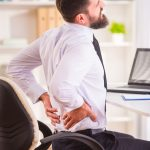 Lower back pain in office personell